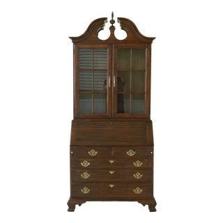 Harden Cherry Secretary Desk W. Bookcase Top For Sale