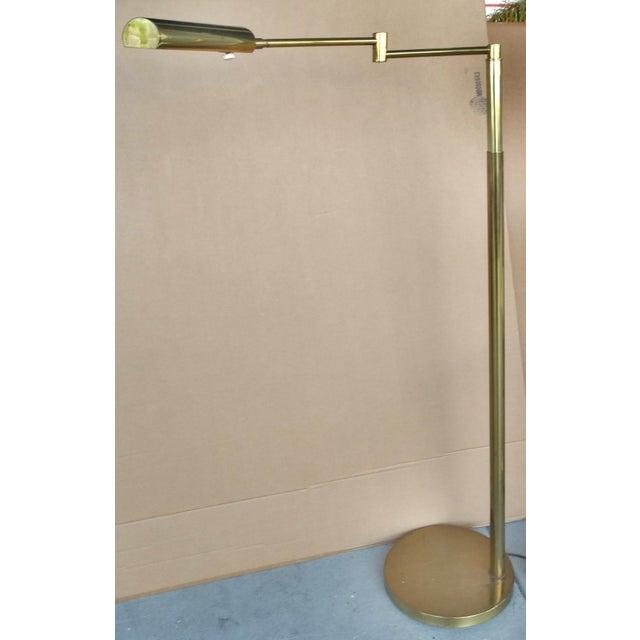 Koch & Lowy Brass Swing Arm Floor Lamp - Image 2 of 11