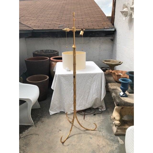 Gilt Metal Bamboo Floor Lamp by Circa Lighting For Sale - Image 12 of 13