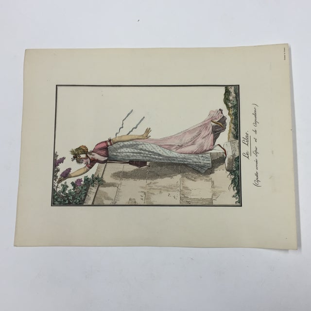 French Antique French Print Le Lilas the Lilacs For Sale - Image 3 of 6