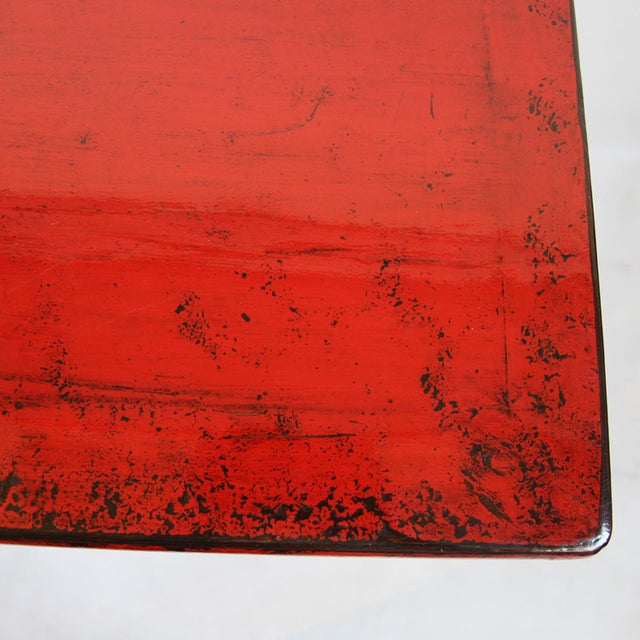 Red Lacquer Side Cabinet - Image 4 of 4