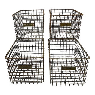 Mid-Century Wire Baskets - Set of 4 For Sale