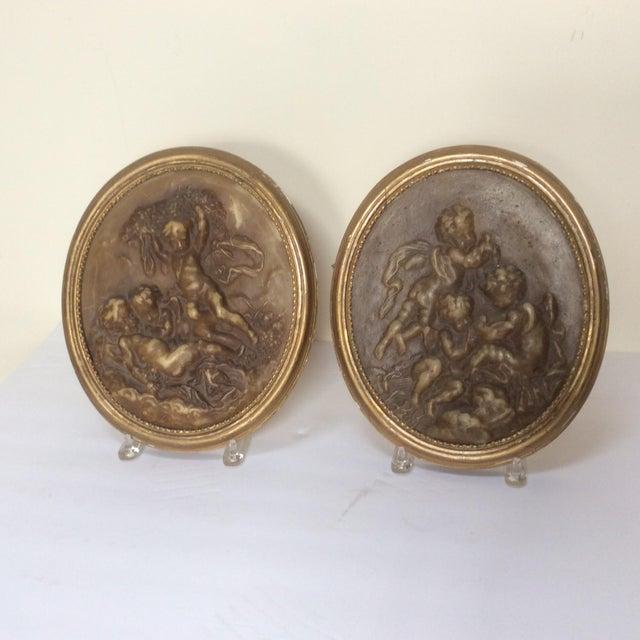 Antique Wax Cherub Reliefs - A Pair - Image 6 of 9