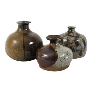 Mid-Century Modern Studio Vases - Set of 3 For Sale