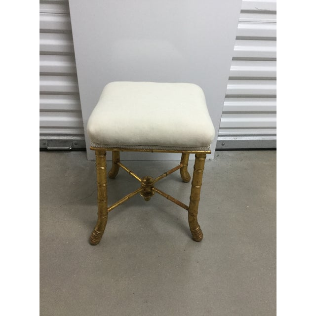 19th Century French Gilt Wood Bamboo Stool For Sale In San Antonio - Image 6 of 6