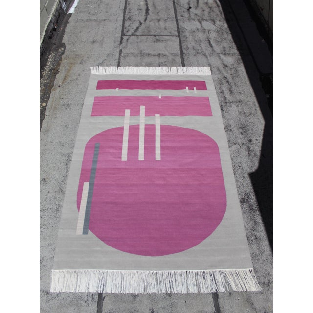 Textile Andrew Boos Handwoven Wool Rug For Sale - Image 7 of 13
