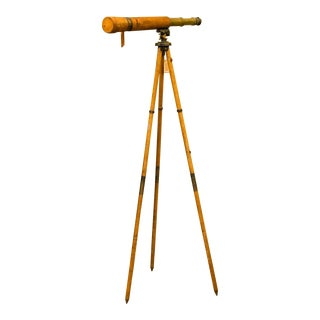 Antique World War 1 Field Artillery Telescope For Sale