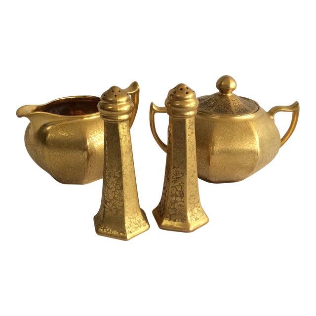 Gold Embossed Bavarian Tableware - Image 1 of 5
