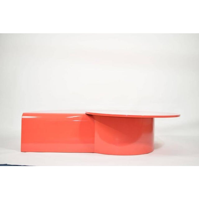 Fabulous Statement Coffee Table in Red/Orange Lacquer For Sale In Dallas - Image 6 of 9