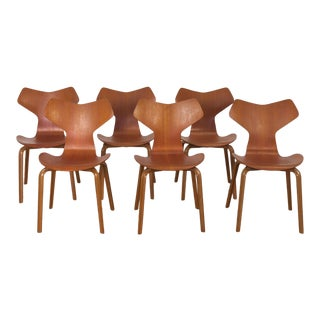 Arne JacobsenPrix Teak Dining Chairs - Set of 6 For Sale