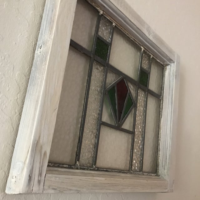Antique Cottage Stained Glass Window - Image 8 of 9