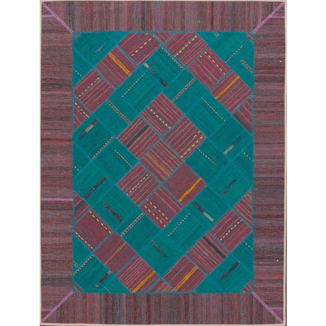 "Apadana - Persian Flat-Weave, 4'11"" X 6'6"" - Image 4 of 4"