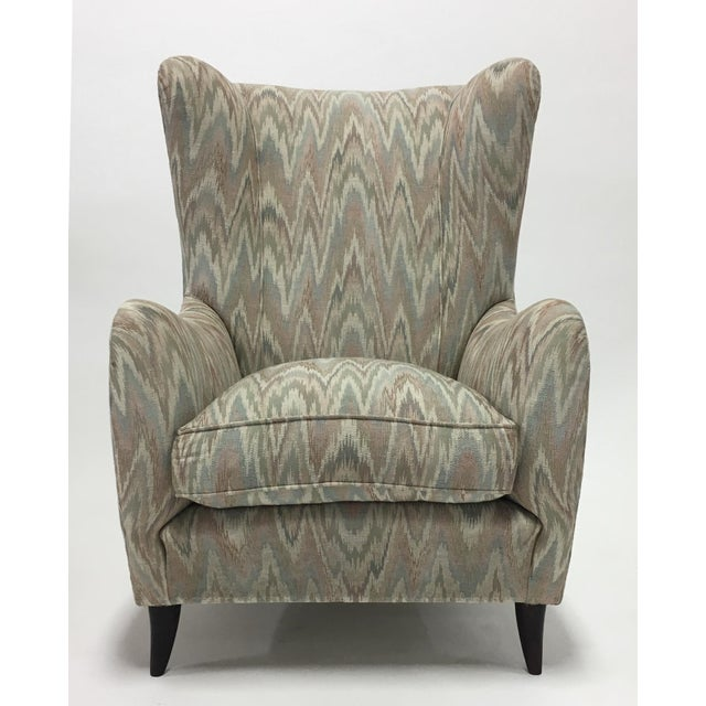 Italian High Back Lounge Chairs - A Pair - Image 6 of 11
