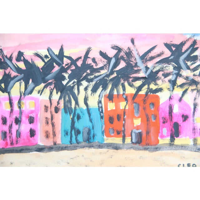 Miami Beach Abstract Painting by Cleo - Image 3 of 3