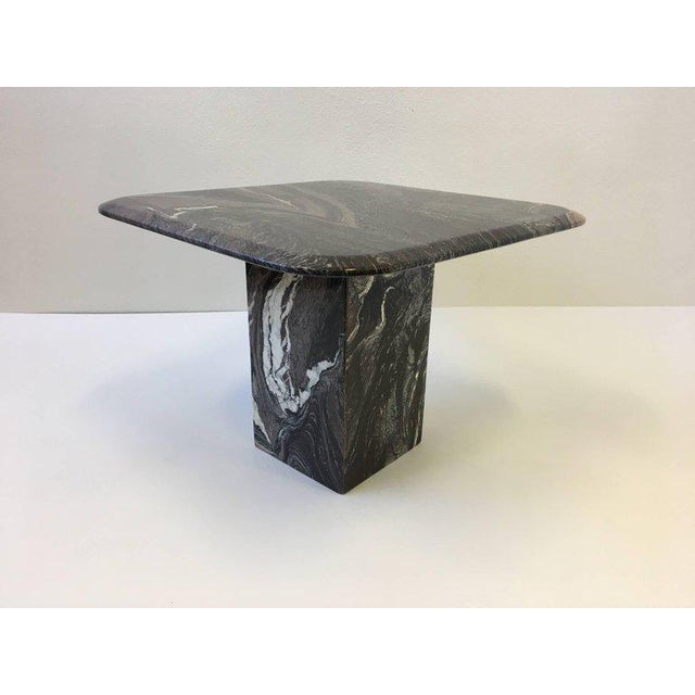 Marble Italian Marble Side Table For Sale - Image 7 of 10