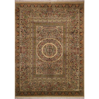 Art Nouveau 1980s Zarqa Pak-Persian Marget Wool Rug - 9′1″ × 12′7″ For Sale
