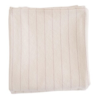 Pinstripe Blanket in Blush, Twin For Sale