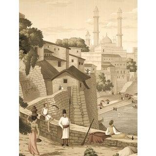Casa Cosima Sepia Jaipur Mural - Sample For Sale