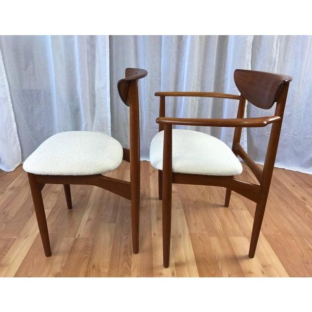 Set of 7 Uncommon Hvidt and Mølgaard-Nielsen Teak Dining Chairs for Søborg Møbelfabrik - Image 6 of 10