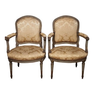 18th Century Set of Six Transition Armchairs Stamped F.Geny For Sale