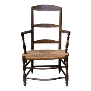 18th Century American Ladder Back Chair For Sale