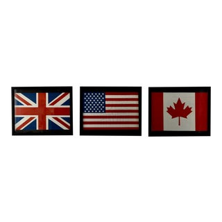 International Flags Set Wall Decor For Sale