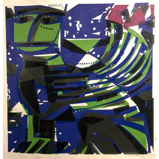 """1957 Silkscreen """"Sphinx"""" Signed and Dated For Sale"""