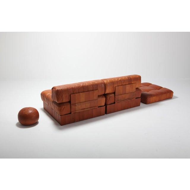 De Sede Cognac Leather Patchwork Ds 88 De Sede Sectional Sofa For Sale - Image 4 of 11