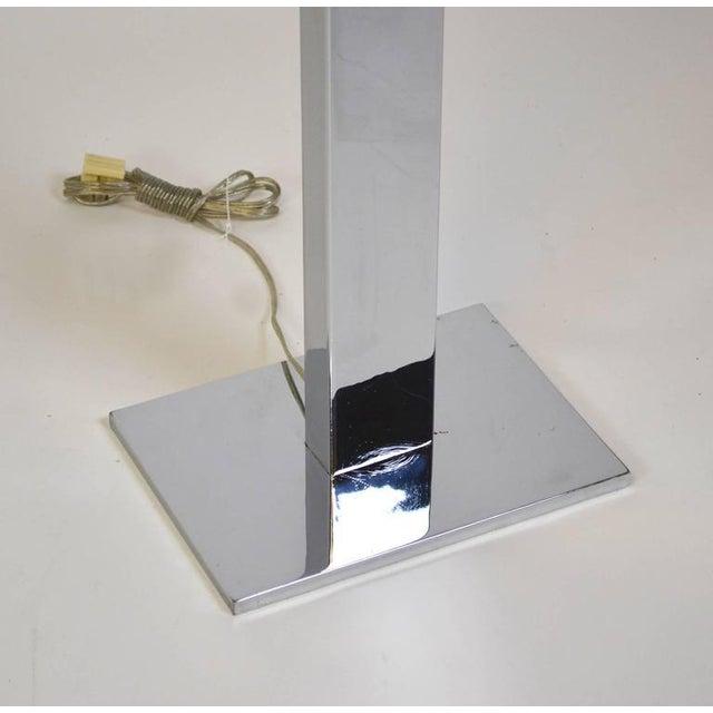 1970s 1970s Modern Stainless Steel Slab Floor Lamp For Sale - Image 5 of 5