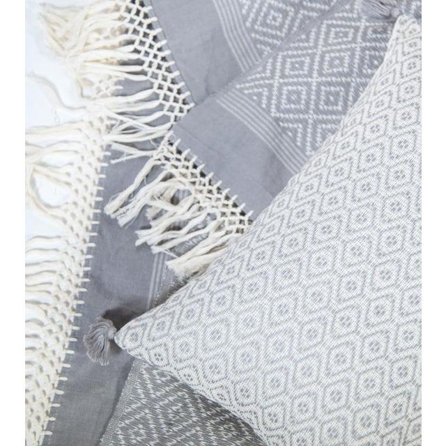 Gray Diamond Handwoven Throw - Image 4 of 6