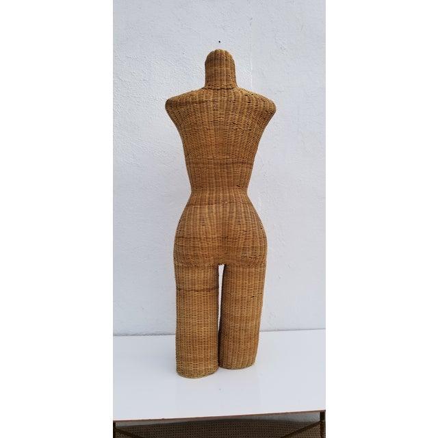 Wicker 1970s Figurative Wicker Female Mannequin Torso For Sale - Image 7 of 13