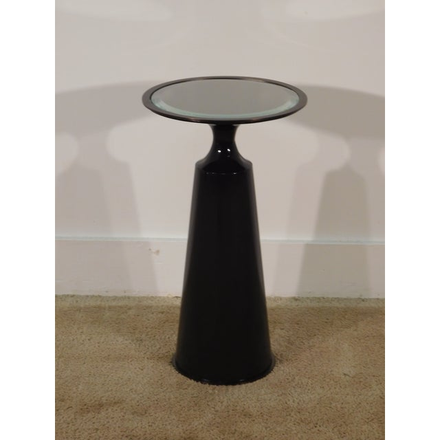 Resin Baker Furniture Company Virdine Round Accent Table For Sale - Image 7 of 7