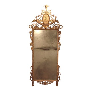 Neo Classical Pier Glass with Original Plate For Sale