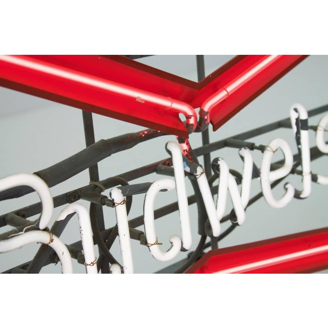 1980s Vintage Budweiser Neon Sign For Sale - Image 5 of 11