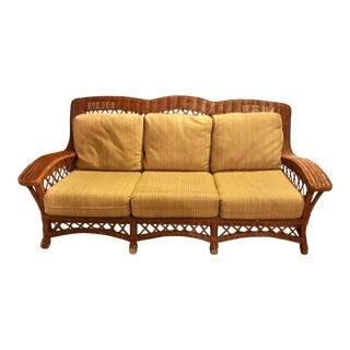 Lane Furniture Wicker Sofa For Sale