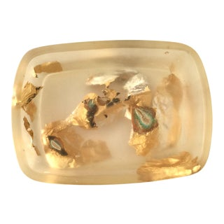 Martha Sturdy Gold and Resin Soap Dish For Sale