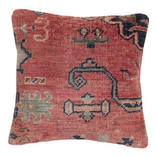 Vintage Boho Chic Carpet Cushion For Sale