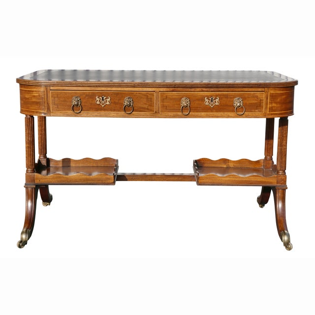 Regency Mahogany Writing Table For Sale - Image 13 of 13