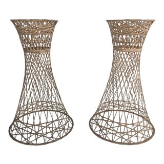 Russell Woodard Boho Chic Plant Stands - a Pair For Sale