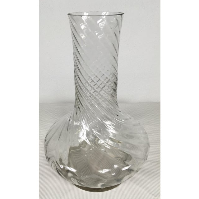 Glass 1980s Traditional Handblown Monumental Glass Vase For Sale - Image 7 of 7