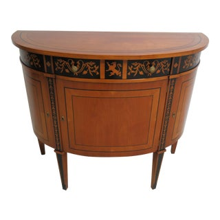 Modern Decorative Crafts Satin Wood Demi Lune Sideboard For Sale
