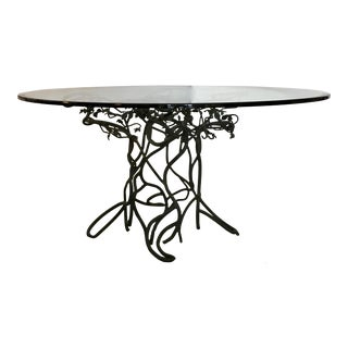 Bronze Vine Base Dining Table