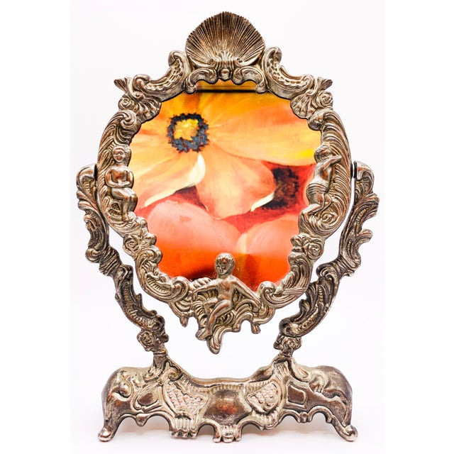 This Art Nouveau Dressing Table Mirror is a sturdy, and elegant piece of decor from the past. This mirror is in great...