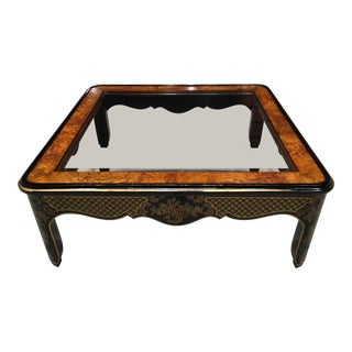 Mid-Century Modern Chinoiserie Drexel Et Cetera Coffee Table For Sale