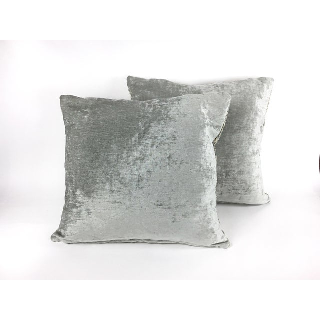 "Contemporary Hollywood Regency Pollack's ""Cracked Ice"" Custom Designer Velvet Pillows - a Pair For Sale - Image 3 of 8"