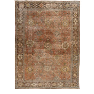 Early 20th Century Antique Sultanabad Wool Rug 10 X 13 For Sale