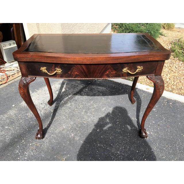 Mahogany & Leather Writing Desk - Image 2 of 9