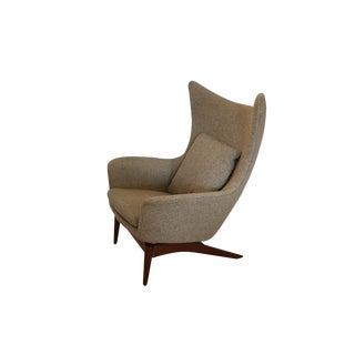 Danish Mid Century Modern Hw Klein for Bramin Wing Lounge Chair For Sale