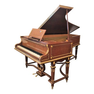 "Magnificent Antique ""Erard"" Bronze d'Ore Mounted Plum Pudding Mahogany Piano, Circa 1900."