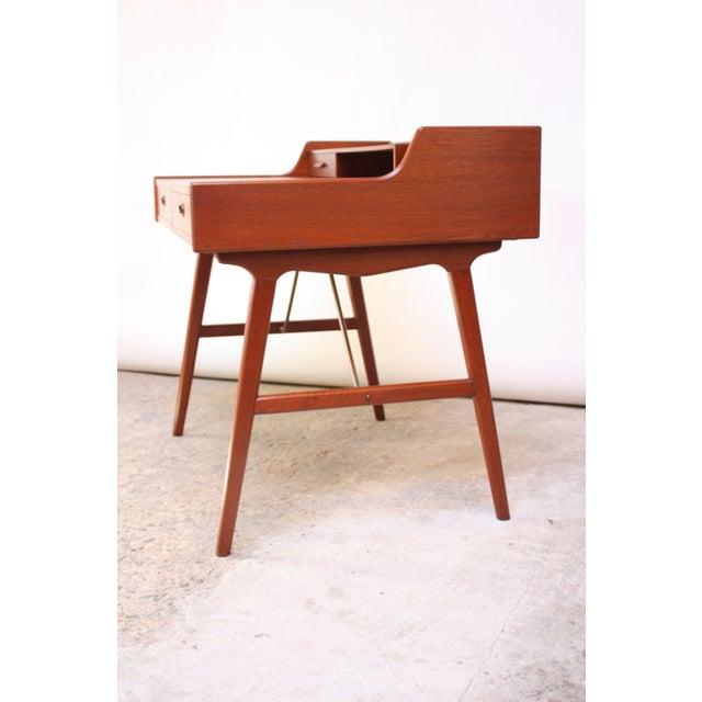 Teak and Brass 'Ladies' Desk by Arne Wahl Iversen - Image 5 of 13